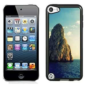 NEW Unique Custom Designed iPod Touch 5 Phone Case With Huge Rock Island_Black Phone Case