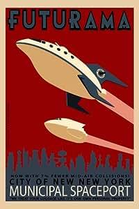 Futurama Poster 24x36 inches Billy West Katey Sagal John DiMaggio High Quality Gloss Print 102