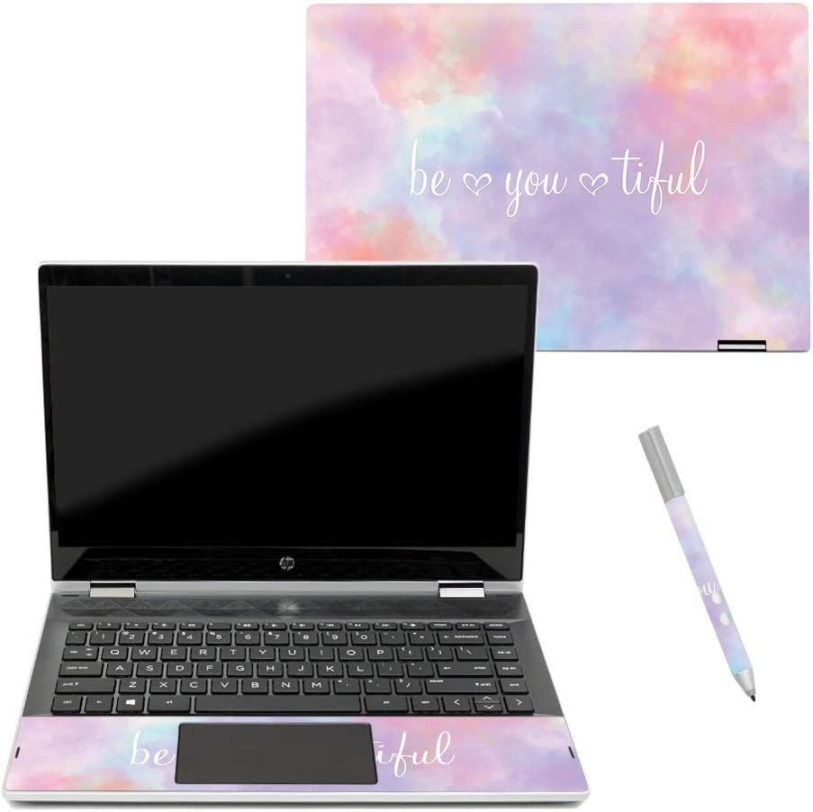 """MightySkins Skin Compatible with HP Pavilion x360 14"""" (2018) - BeYouTiful   Protective, Durable, and Unique Vinyl Decal wrap Cover   Easy to Apply, Remove, and Change Styles   Made in The USA"""