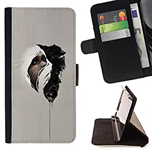 Momo Phone Case / Flip Funda de Cuero Case Cover - Nativo Medicina misterioso indio - Samsung Galaxy Core Prime