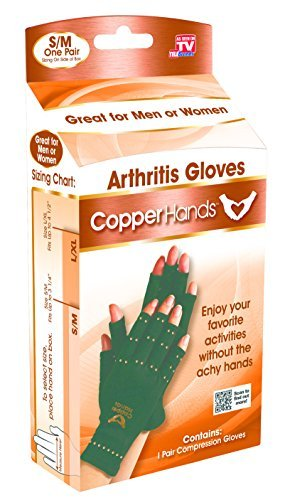 Copper Hands Arthritis Compression Gloves As Seen on TV