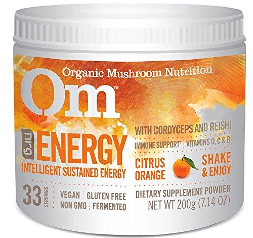 Om Organic Mushroom Supplement, Energy with Cordyceps & Reishi, 200 grams