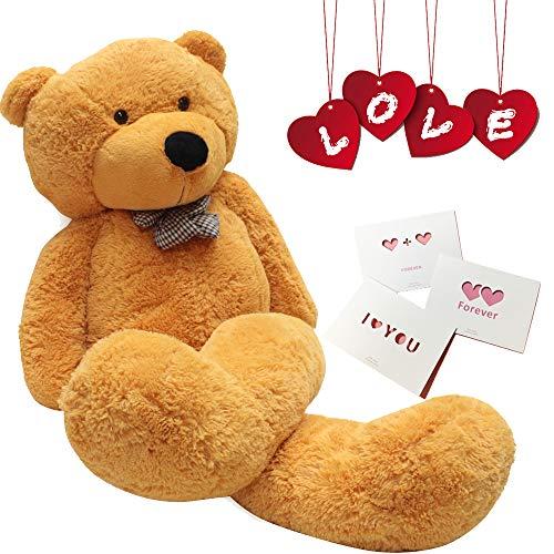 24 inch Big Cute Teddy Bear Plush Animals for Girl Children Girlfriend Valentines Day White 60cm (Brown)