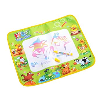 Water Drawing Painting Mat Board &Magic Pen Doodle Toy Gift 58*48CM Developmental Early Learning Useful Popular for Toddler Kids Baby Fun Developmental Children Educational Decorations