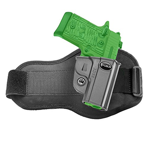 Fobus Concealed Ankle Holster for Kimber Micro 9mm & .380cal and Sig Sauer P938 & P238 - - Sauer Sig 9 Mm