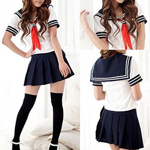 JMS Cosplay Japanese School Girl Students Sailor Uniform Sexy Anime Costume Fashion HIS ()