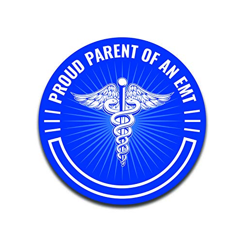 MKS0324 More Shiz Proud Parent of an EMT Decal Sticker Car Truck Van Bumper Window Laptop Cup Wall Two 5 Inch Decals