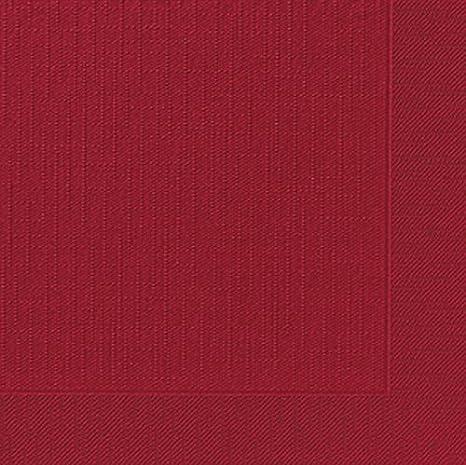 d9a882b277 Duni Dinner-Servietten 4lagig Tissue geprägt Uni bordeaux, 40 x 40 cm, 50