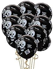 Pumpkin Bat Specter Spider Web Halloween Latex Balloons with Air Pump - 12in, 50 Pieces