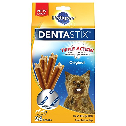 Pedigree Dentastix 24 Mini Treats Small/Toy Dogs (Pack of 2) 6oz Packaging May Vary