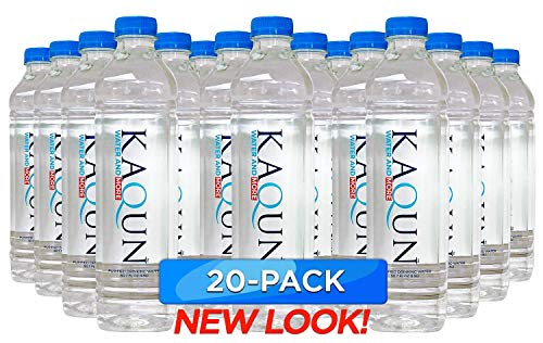 KAQUN Water 20-Pack, Oxygenated & Refreshing, Oxygen Infused Bottled Drinking Water, Chemical Free, Detox, for Kaqun Therapy, Authorized ()