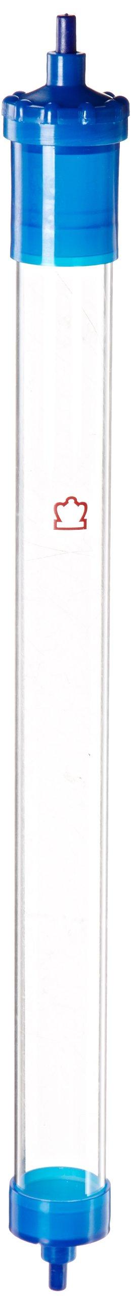 Kimble Flex-Column 420400-2530 Borosilicate Glass Economy Chromatography Columns, 147ml Volume, 2.5cm ID, 30cm Length, 4.91cm3 Cross Sectional Area (Case of 5)