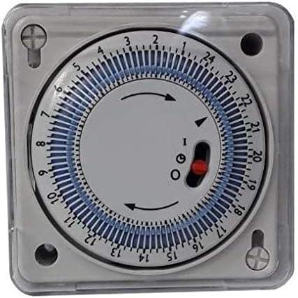 YMBERSA Reloj Programador 24H para Cuadro eléctrico de Piscinas empotrable 230v. con Reserva de Marcha