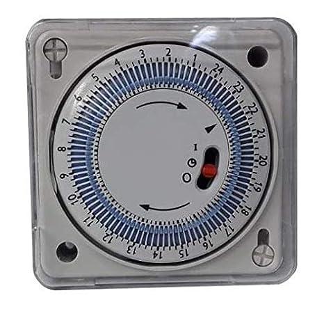 YMBERSA ERB00015.1 Reloj Programador 24H para Cuadro eléctrico de Piscinas empotrable 230v. con Reserva de Marcha: Amazon.es: Jardín