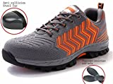 LIDUN Breathable Women Steel Toe Shoes Steel Toe Boots for Womem Steel Toe Sneakers (US Women 8 / Men 6.5, LD08)