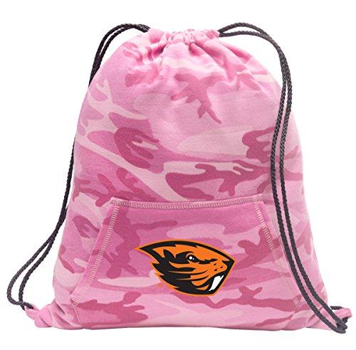 Broad Bay Cute Camo Oregon State Drawstring Bag Hoody OSU Beavers Cinch Pack for Girls & Women
