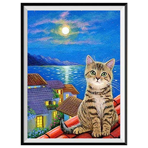 Ideas Painting Rooms (Clearance!5D DIY Diamond Painting Kit,Cat Embroidery Cross Stitch Craft Kit Modern Arts Crafts Full Drill Diamond Painting Great Gift Idea for Women and Girls edroom Living Room(C,30x35cm))
