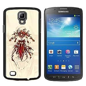 Superhero Hierro- Metal de aluminio y de plástico duro Caja del teléfono - Negro - Samsung i9295 Galaxy S4 Active / i537 (NOT S4)