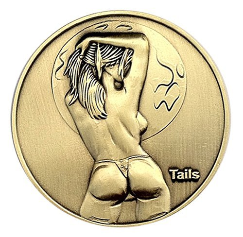 Sexy Pin Up Girl Good Luck Heads & Tails Challenge Coin
