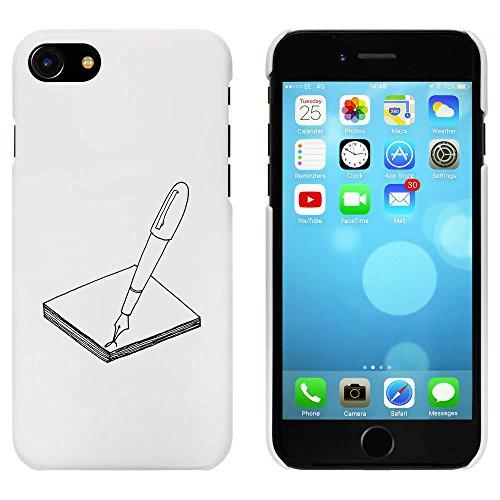 Blanc 'Stylo et Papier' étui / housse pour iPhone 7 (MC00059902)