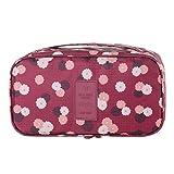Daoroka Underwear Bra Sorting Organizer Bags Waterproof Travel Home Zipper Lingerie Storage Portable Bag (29X16cm, Red)