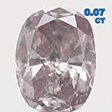 Natural Loose Diamond Oval Light Pink Color SI2 Clarity 2.94X2.24X1.40MM 0.07 Ct KR181