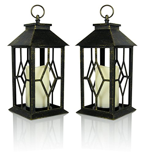 Cheap  Banberry Designs Decorative Candle Lantern - Set of 2 Brushed Faux Finish..