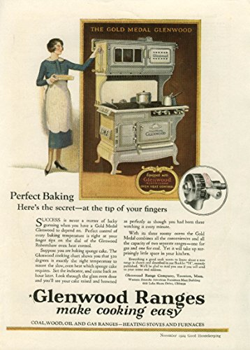 Perfect Baking at the tip of your fingers Glenwood Ranges ad 1924 Glenwood Range