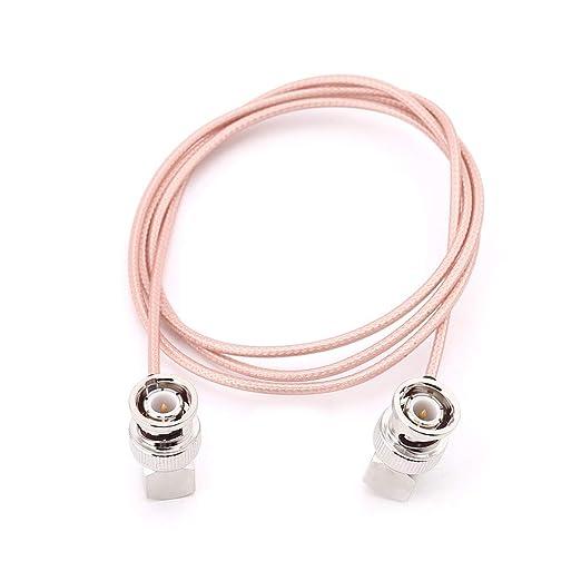 JENOR - Codo BNC macho a codo BNC macho RG316 cable coaxial ...