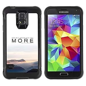 LASTONE PHONE CASE / Suave Silicona Caso Carcasa de Caucho Funda para Samsung Galaxy S5 SM-G900 / More Message Text Nature Mist Sunset