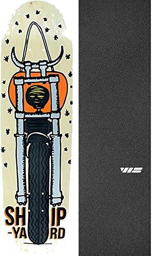 勤勉な未払い装置Shipyard Skates Moto Devil HR形状自然Old Schoolスケートボードデッキ – 9