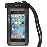 Waterproof Case, TETHYS Universal Waterproof Bag [Ultrapouch Pro] for iPhone 6/6S Plus, iPhone 5S 5C 5 4S, Galaxy S6, S6 Edge S5, Note 4 3 [Black] Protective pouch cover Fit Up to 6.1 inch Diagonal