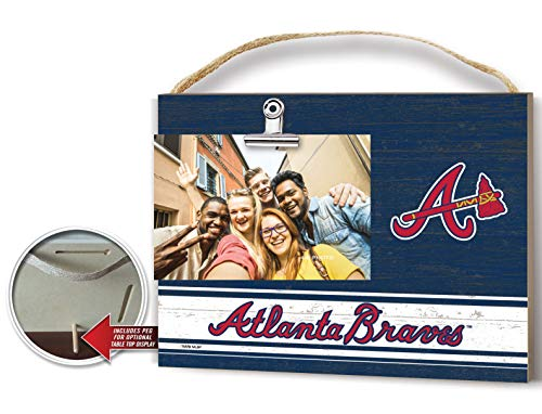 KH Sports Fan Clip It Colored Logo Photo Frame Atlanta Braves