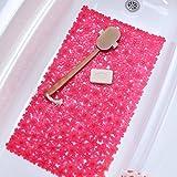 Bathroom Mats Pink Field of Flowers Bath Mat - Pink