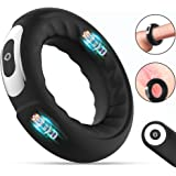Dual Motors Vibrating Penis Cock Ring for Clitoral Stimulation, CHEVEN Couple Vibrator with 10 Vibrations, Wireless…