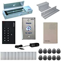 VSIONIS FPC-5331 One Door Access Control Inswinging Door 1200lbs Maglock with VIS-3002 Indoor use only Keypad/Reader Standalone no software EM Card Compatible 500 users Kit
