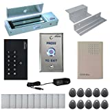 Visionis FPC-5331 One Door Access Control Inswinging Door 1200lbs Maglock with VIS-3002 Indoor use only Keypad/Reader Standalone no software EM Card Compatible 500 users Kit
