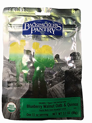 Backpacker's Pantry Organic Blueberry Walnut Oats & Quinoa, One Serving Pouch