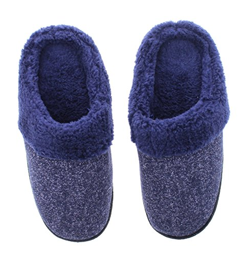 Slipper Metallic House Women's Nishti Knit Lined Clog Gold Toe Heather Fur Sparkle Navy wX6vPqOU