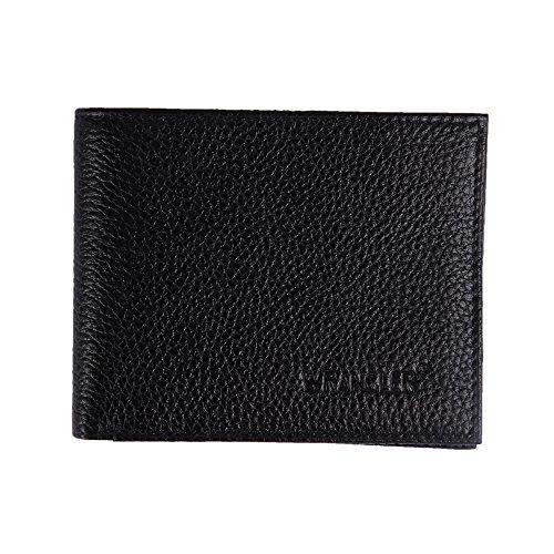 WRANGLER Men #39;s black genuine leather wallet AG 615bl