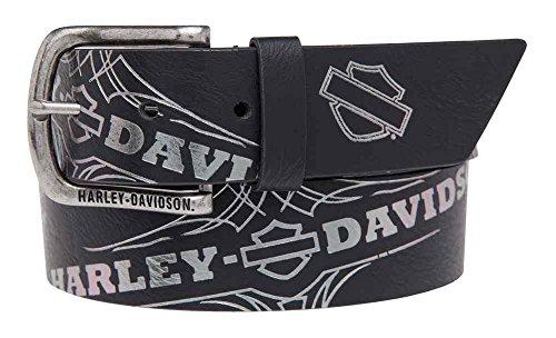 Harley-Davidson Women's Mirage Foil Printed Belt, Genuine Leather HDWBT11024 (Mirage Buckle Belt)