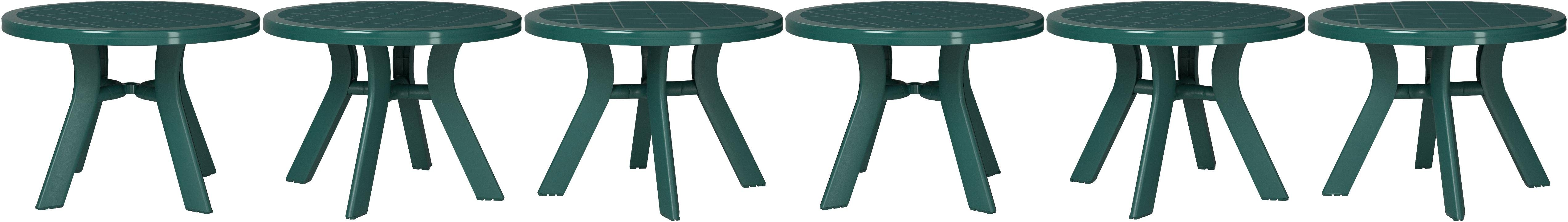 Amazon Com Compamia Truva 42 Round Resin Patio Dining Table In Green Commercial Grade Patio Dining Tables Garden Outdoor