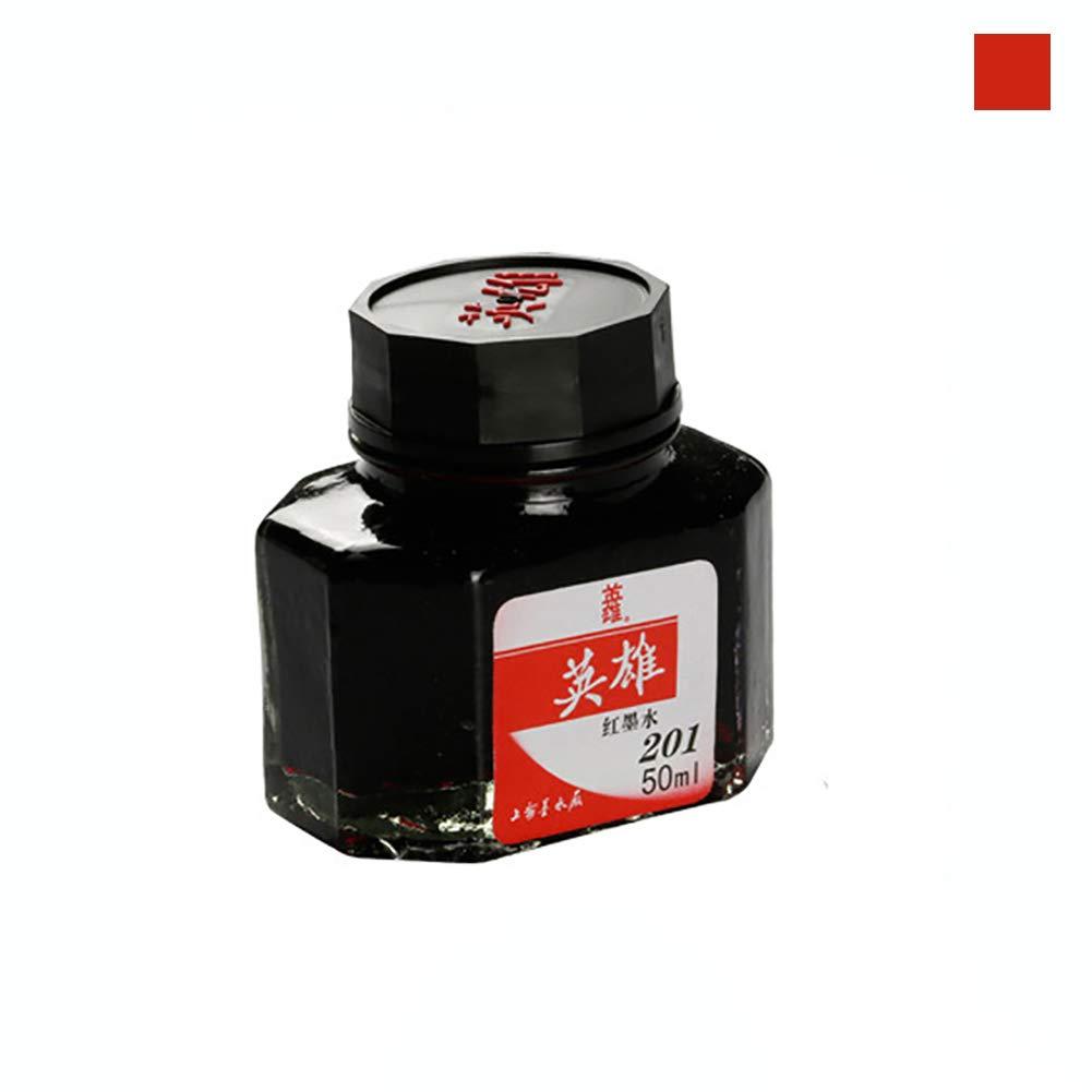 Penna stilografica 50 ml flacone in vetro liscio inchiostro scuola ufficio forniture –  Geshiglobal Red