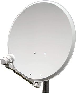 Triax - Parábolo satélite (acero, 65 cm, LNB, Single ...