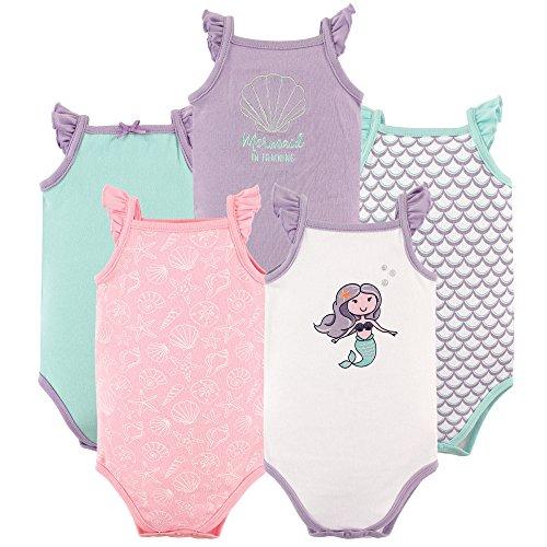 Hudson Baby Paquete de 5sin mangas algodón Bodies, Mermaid, 9-12 meses
