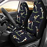 Simply Cool Trends Whippet Dog Patterns Print Car Sheet Covers