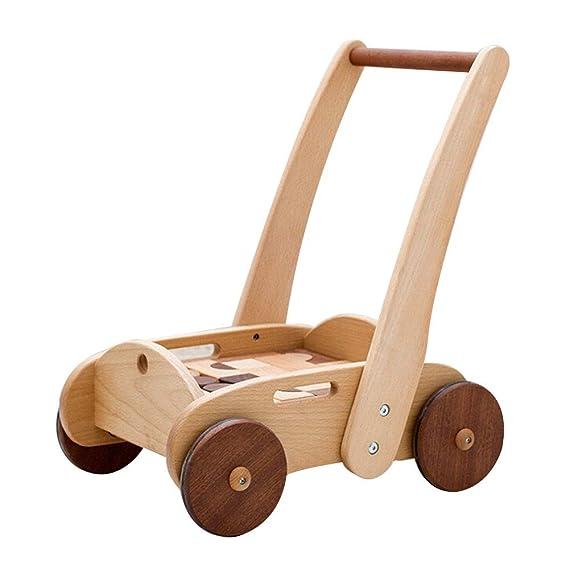 Juguete para empujar y tirar del carrito rodante Walker ...
