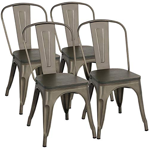 Yaheetech Metal Dining Chairs