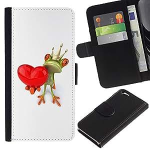 Planetar® Modelo colorido cuero carpeta tirón caso cubierta piel Holster Funda protección Para Apple (4.7 inches!!!) iPhone 6 ( Crown White Love Valentine Valentines )