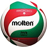 Molten FLISTATEC Volleyball - FIVB Approved, Red/Green/White